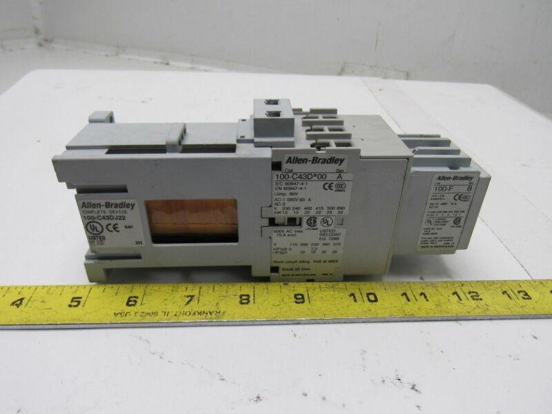 A-B Allen Bradley 100-C43DJ22 Safety Contactor W/100-F