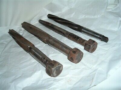4 Vintage Tapered Shank Reamer Tools Xl 2 Hss 1 Wayne I Unk One Price For All