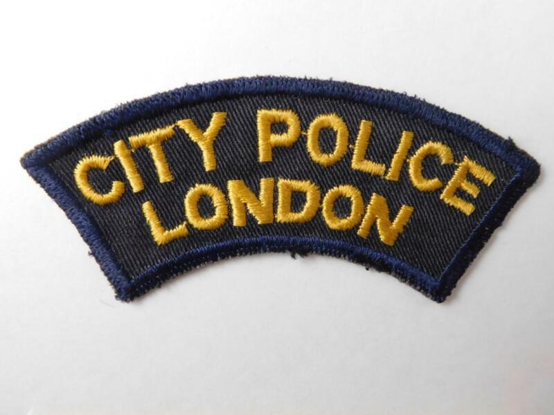 CITY POLICE LONDON VINTAGE PATCH BADGE ONTARIO CANADA COLLECTOR