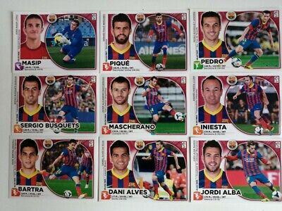F.C.BARCELONA, MASIP, ALVES, PIQUÉ, ALBA, INIESTA, PEDRO,.... LIGA 2014/15