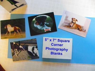 5 X 7 Photo Sheet -aluminum Sublimation Blanks White Square Corners - 20 Pcs