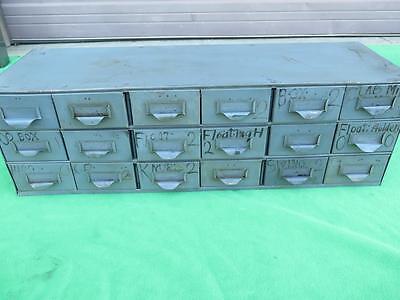 Steel Metal Cabinet 18 Drawer Steel Part Hardware Tooling Storage Bin Organize 7