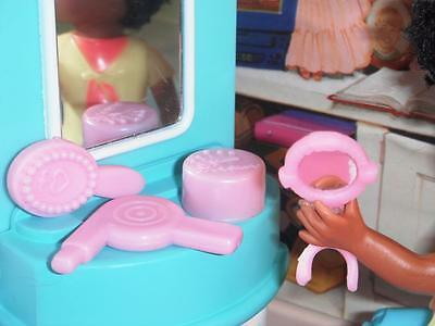 Barbie Pink Hairdryer Powder Mirro Lot fits Fisher Price Loving Family Dollhouse