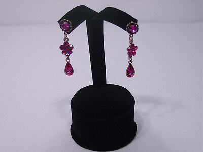 New 4h Black Velvet Earring Jewelry Display Stand Top Case Rd7b1