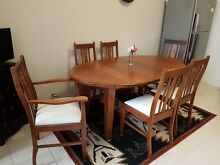 Antique Tasmanian Oak Oval Dining Table and Chairs Mount Pleasant Melville Area Preview