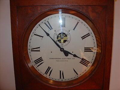 STROMBERG ELECTRIC CO. Master Clock  (Pendulum style) WORKING Antique Timeclock
