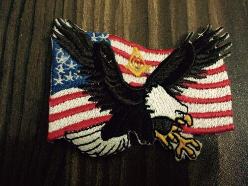 5 Pieces Master Mason on USA Flag, York Rite Patches, Freemason Eagle