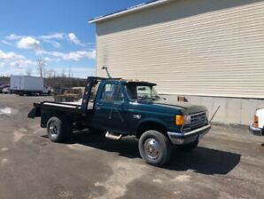 1990 Ford F-350 Single Cab Flat Deck 7.3 idi