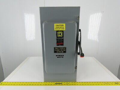 Square D Hu364 3p 200a 600v Single Throw Non-fusible Disconnect Safety Switch