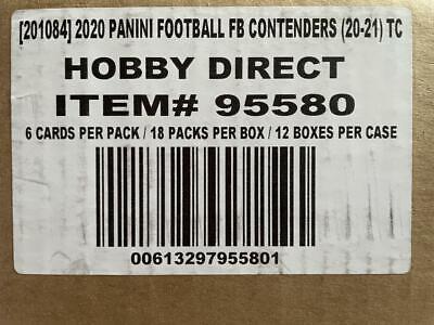 2020 Panini Contenders Factory Sealed Football Hobby 12 Box Case Herbert Tua!!