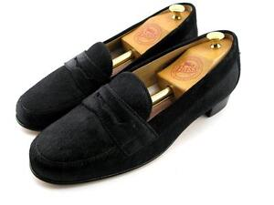 NEW Black BROOKS BROTHERS Ponyhair Penny Loafers Flats Shoes 5.5 Italy