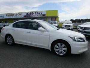 2012 Honda Accord 8th Gen MY11 V6 Luxury White 5 Speed Sports Automatic Sedan Kedron Brisbane North East Preview