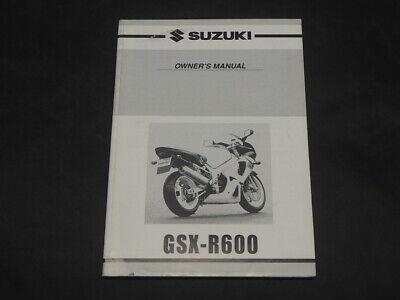 SUZUKI GSX-R600 GSX-R 600 GSX600R K0 2000  OWNER'S OWNER MANUAL 99011-39F50