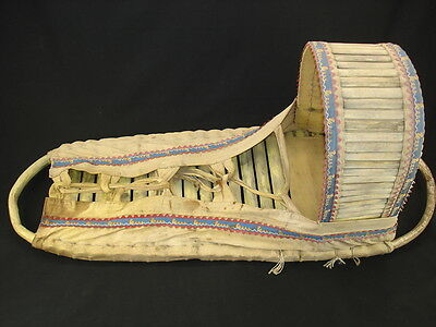 A Large Full-size Apache Cradle basket, Native American Indian, Circa: 1910