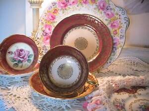 MINT RARE VINTAGE DOUBLE WARRANT PARAGON ENGLISH CHINA TRIO LACE Austral Liverpool Area Preview