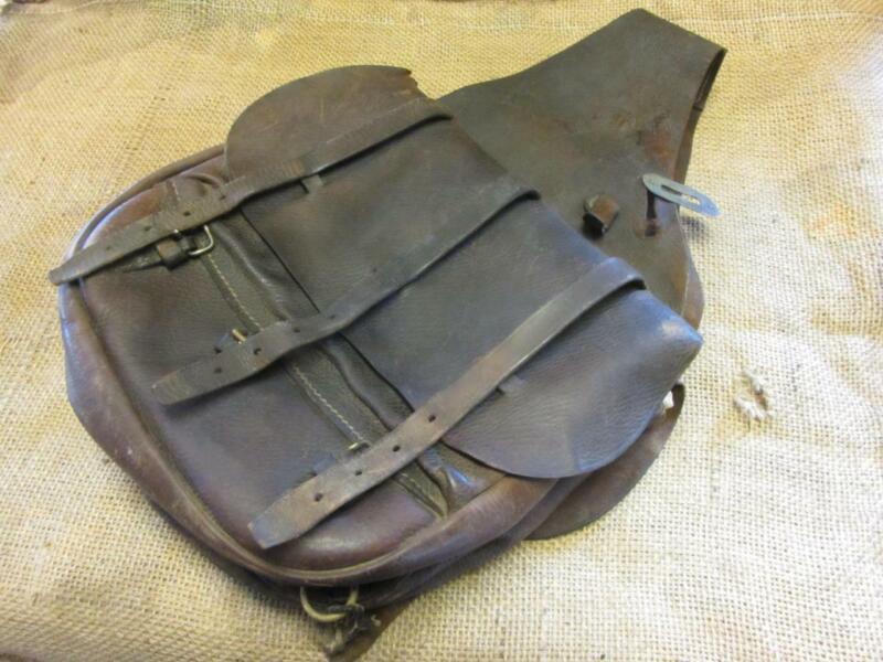 Vintage US Leather Saddle Bags Satchel > Antique Horse Western Saddles 10201