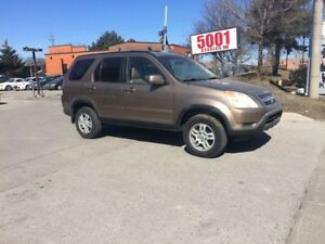 2004 Honda CR-V AWD,LEATHER,S/R,SAFETY+3YEARS WARRANTY INCLUDED