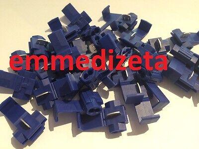 RUBACORRENTE Blu Derivazione a T Serra cavo 10 pz