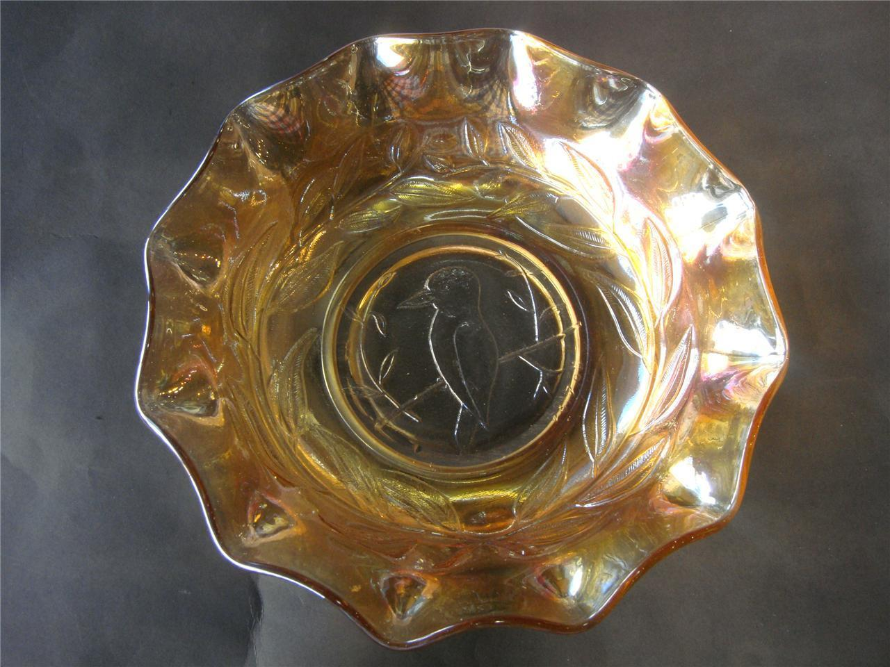 Antique Australian Kingfisher Marigold Carnival Glass Master Bowl Vintage 1920.s