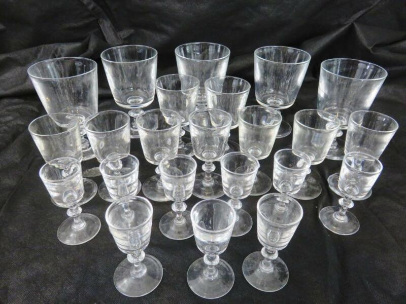 23 pc Steuben Crystal Stemware #7725 Water Goblets~Wine Glass~Clarets~Cordials