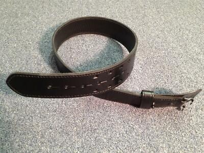 Genuine Police Mp Military 2 Row Stitch Leather Duty Belt 2 14 Size 30