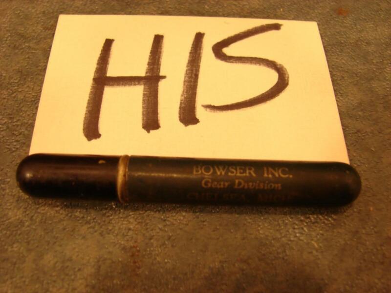 H15 VINTAGE ADVERTISING CIGARETTE LIGHTER BOWSER INC CHELSEA, MICH PEN SHAPE