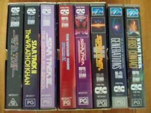 Star Trek Movies 1-8 VHS Video VGC Collectors Edition Sci-Fi Film Allawah Kogarah Area Preview