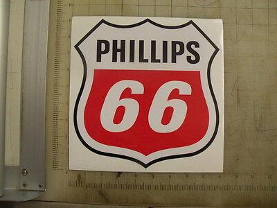 """Vintage Phillips 66 Gasoline sticker 8.8""""x9"""""""