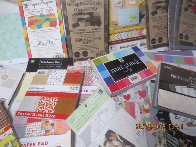 Over 9 pounds scrap booking carding making paper lot