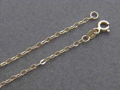 Real 14K Gold Necklace 2Mm Flat Link Chain Necklace Real Gold  Wholesale Prices