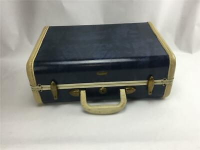 "Vintage Samsonite Shwayder Bros Blue Marble Small Train Case 15"" Carry-on"