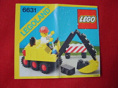 LEGO TOWN 6631 STEAM SHOVEL 100% COMPLETE VINTAGE SET 1985 (See my items)