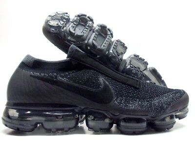 NIKE AIR VAPORMAX FLYKNIT SE BLACK BLACK-DARK GREY SIZE MEN S 10.5  AQ0581 548116bdf03