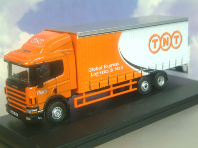 EXCELLENT OXFORD DIECAST 1/76 SCANIA 94 6 WHEEL CURTAINSIDE TRUCK TNT 76S94001