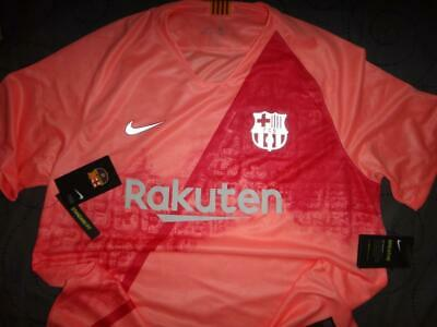 NIKE BARCELONA FCB SOCCER BREATHABLE SHIRT SIZE 2XL XL MEN NWT $90.00