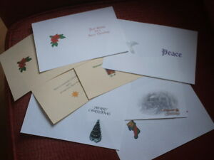 15 A5  CHRISTMAS CARD INSERTS( For handmade cards)