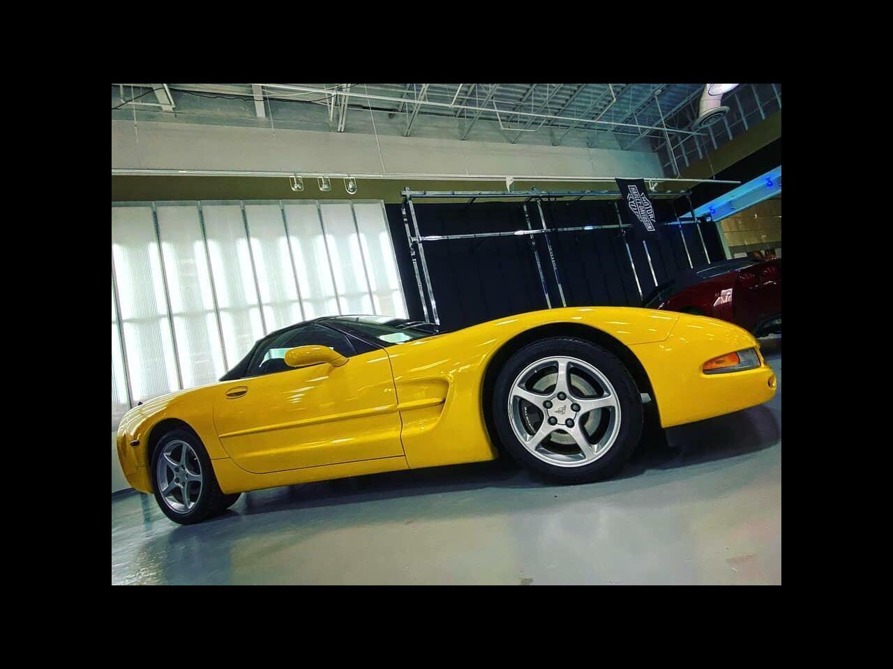 2002 Yellow Chevrolet Corvette Convertible    C5 Corvette Photo 2
