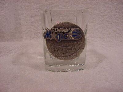 Basketball Square Shot Glass (BEAUTIFUL Orlando Magic Pewter Logo 2 1/2 Inch Square Shot Glass, MINT!! )