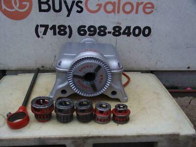 Ridgid 400 Pipe Threader Threading Machine With 12r Die Set 34-2 Inch Nice 300