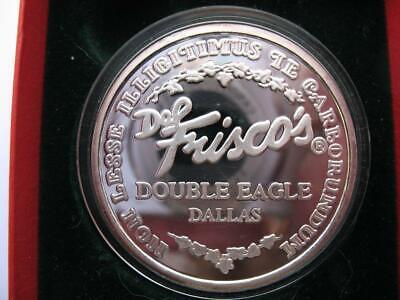 1-OZ.999 SILVER RARE 1994 DOUBLE EAGLE FAMOUS DALLAS COIN DEL FRISCO'S+GOLD