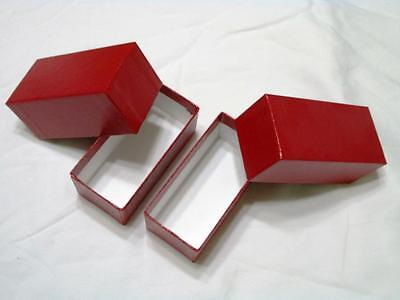 """2 RED STORAGE BOXES for 2x2 COIN HOLDERS & FLIPS 4.5"""""""