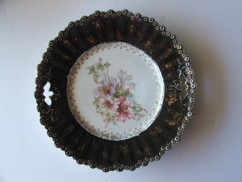 "STUNNING 11"" ANTIQUE PORCELAIN CABINET PLATE, Very Victorian, VERY NICE !!"