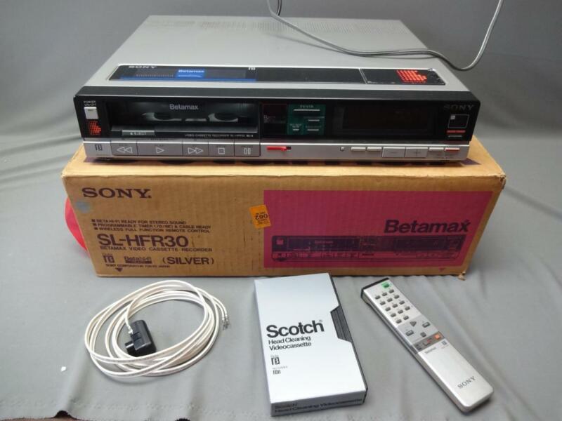 Vintage Sony Betamax Hi-Fi SL-HFR30 Video Cassette Recorder With Box