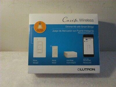 Lutron P-BDG-PKG1W Caseta Wireless Dimmer Kit with Energetic Cross over, Caucasoid