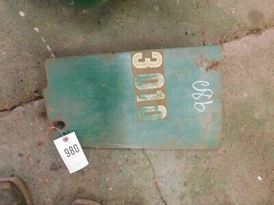 John Deere 3010 Tractor Right Side Panel Tag 980