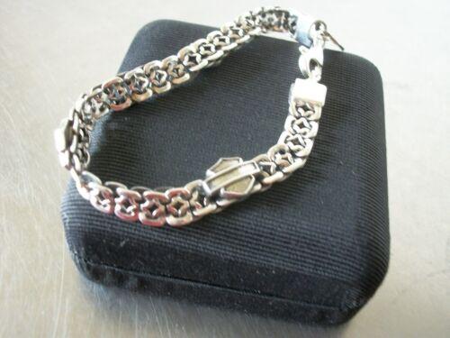 Vintage Sterling Silver Bikers link bracelet/Harley Davidson/Rare Artisan made