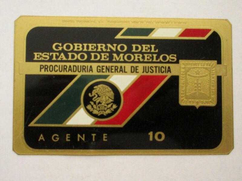 OBSOLETE 1960s MORELOS MEXICO PROCURADURIA GENERAL AGENT MEXICAN POLICE BADGE