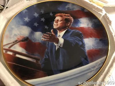 """A TRIBUTE TO JOHN F. KENNEDY"" LIMITED EDITION FRANKLIN MINT PLATE With COA"