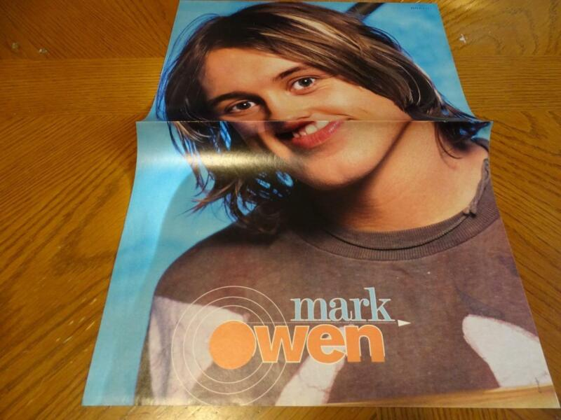 Take That Mark Owen teen magazine poster clipping Bravo long hair 90