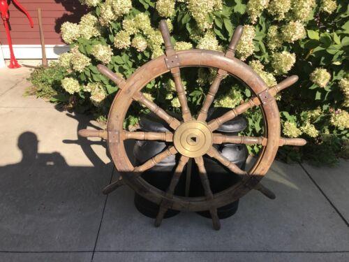 Early Civil War Era  ANTIQUE SHIP MARITIME BOAT WHEEL NAUTICAL DECOR